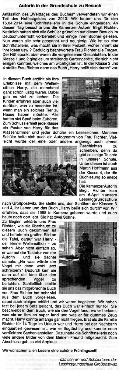 Artikel GS Großpostwitz